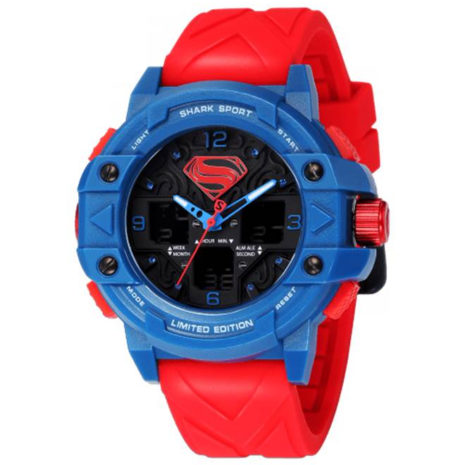 Batman V Superman: Dawn of Justice Shark Sport Watch | Red Blue